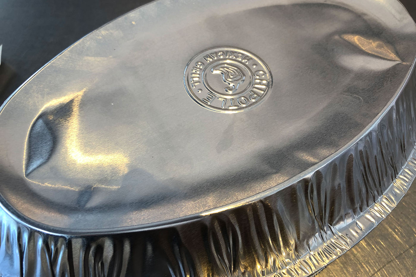 Chipotle takeout container