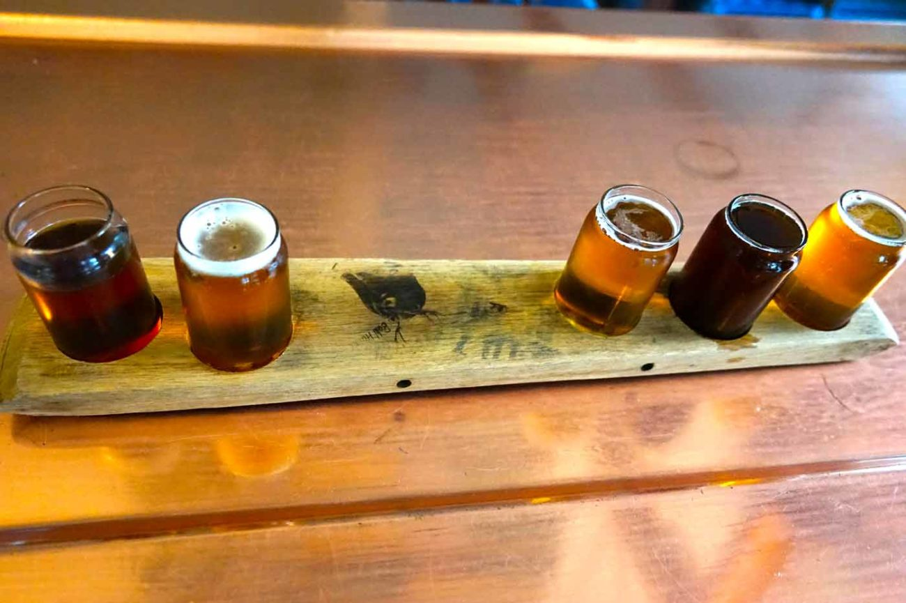 beer flight at anderson valley brewing company