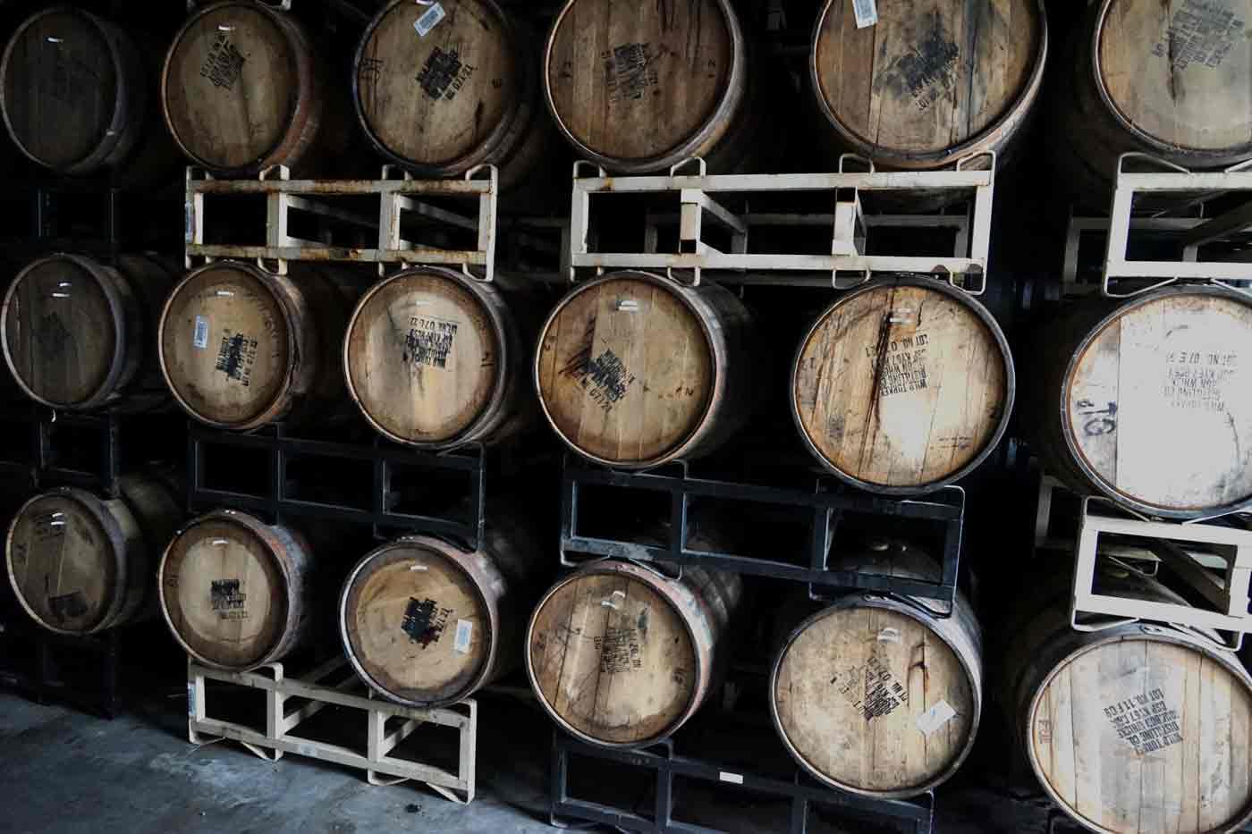 wild turkey barrels at anderson valley brewing company