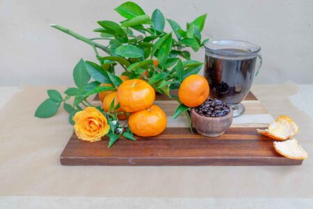 coffee and oranges on a table both affect how well you absorb nutrients