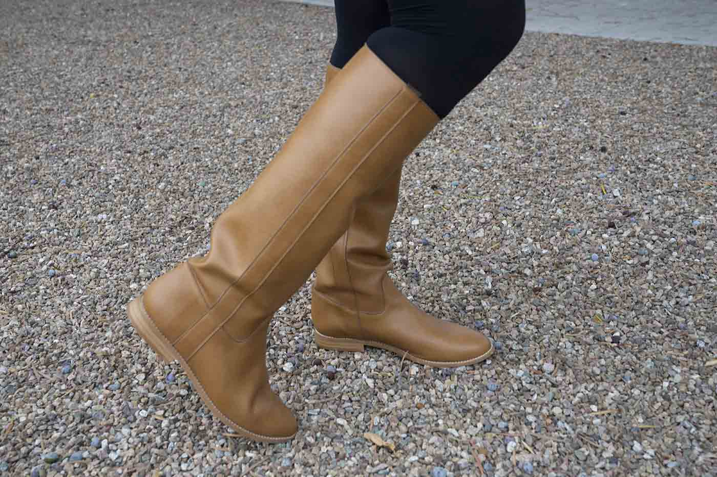 Beyond Skin Lyra knee high camel boots