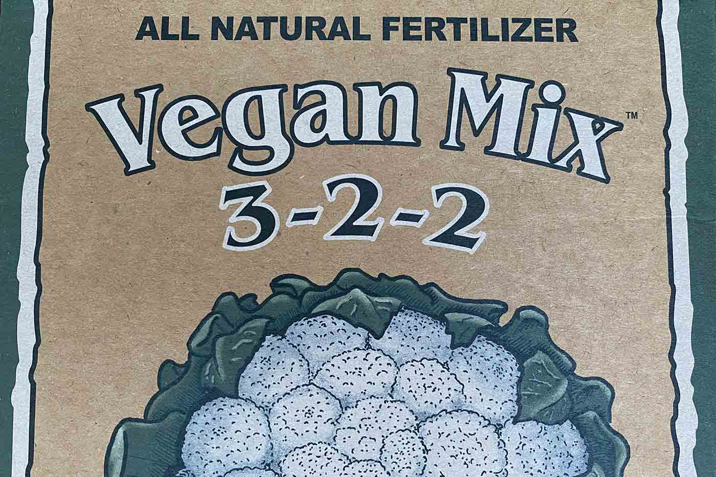vegan fertilizer label Down to Earth