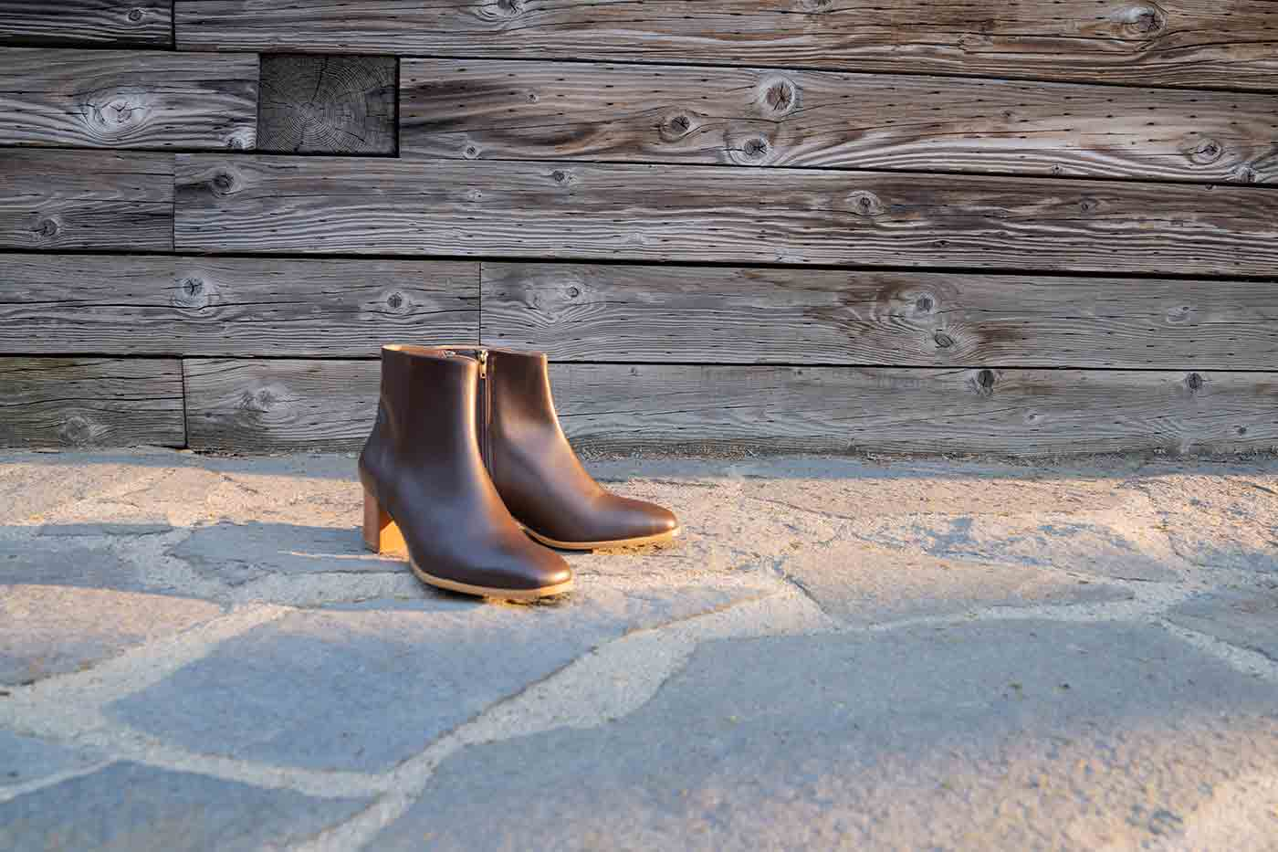 Jackie ankle boot in espresso from Bhava