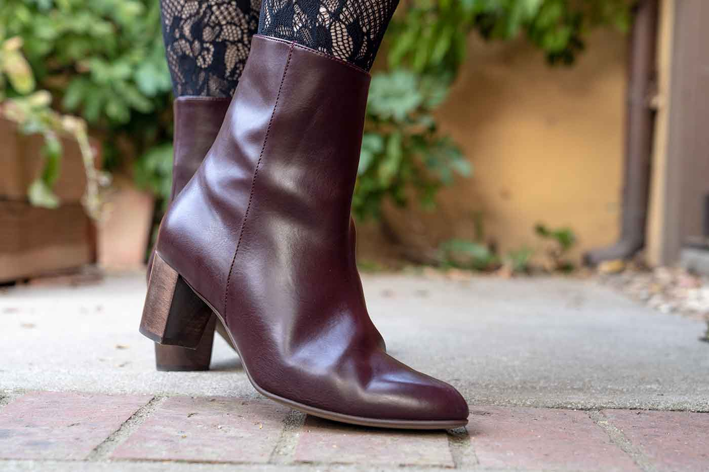 Editor bootie in burgundy from Bhava