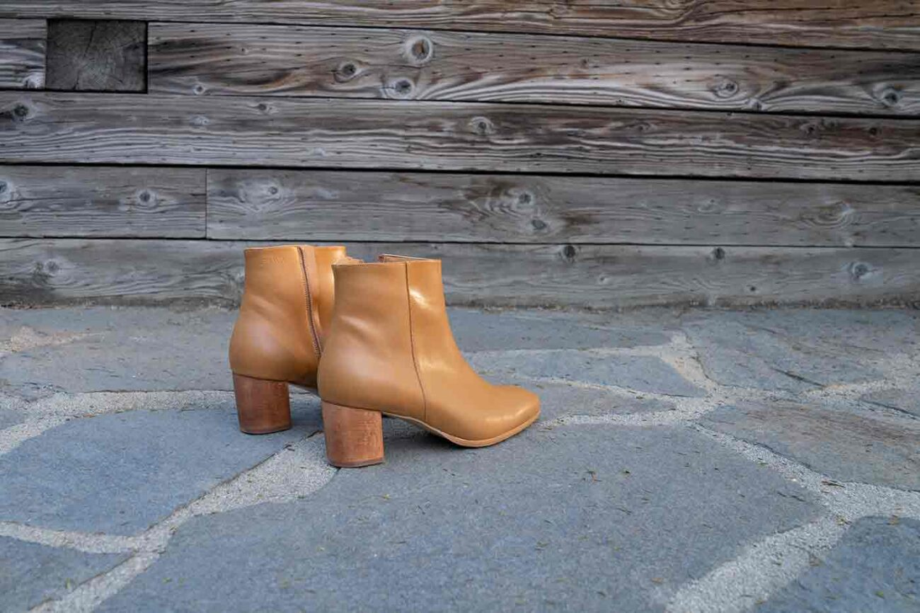Jackie low ankle boot in natural from Bhava shoes